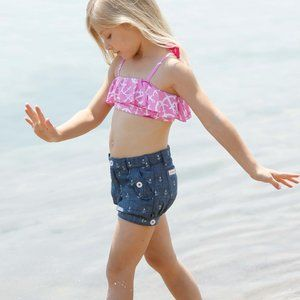 Hatley Chambray Horse Print Bloomer Shorts